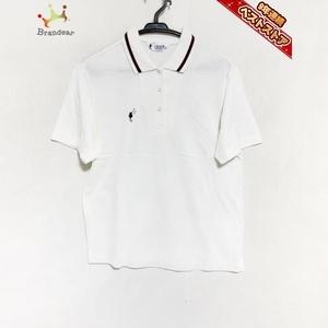 フクゾー FUKUZO 半袖ポロシャツ サイズ34/86 - 白×レッド×ダークネイビー レディース 美品 トップス