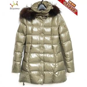 タトラス TATRAS ダウンコート サイズ1 S LTA13A4294 - カーキ×ダークブラウン レディース 長袖/ファー/冬 コート