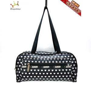 レスポートサック LESPORTSAC ハンドバッグ - レスポナイロン 黒×白 ハート バッグ