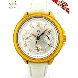 4℃(ヨンドシー) 腕時計 - レディース クロノグラフ シルバー