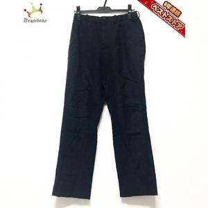 イッセイミヤケ ISSEYMIYAKE パンツ サイズ1 S - ネイビー メンズ フルレングス/シワ加工 ボトムス