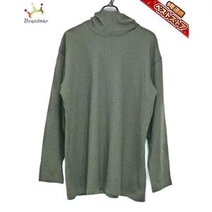 ワイズ フォーメン Y's for men 長袖セーター - カーキ メンズ フード付き トップス