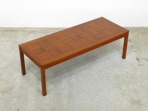 ノルウェー P.S.Heggen工房 チーク材 寄せ木天板 コーヒーテーブル 60年代 ヴィンテージ/北欧 モダン ウェグナー フィンユール デンマーク