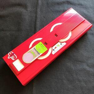 新品未使用 デッドストック 70年代 サンスター文具 ナンバーロック筆入 筆箱 ペンケース 赤 昭和レトロ 昭和40年男