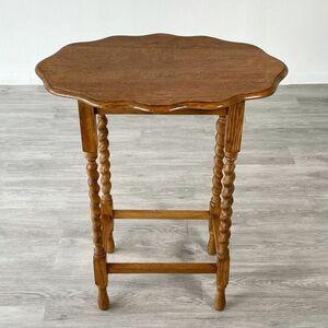 アンティーク 家具 オケージョナルテーブル 1930年頃 オーク材 イギリス 英国 家具 サイドテーブル ビンテージ家具 輸入 店舗什器 799A