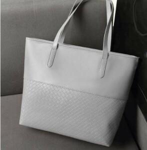 超安★トートバッグ 手提げバッグ ショルダーバッグ レザー メンズ レディース ホワイト バッグ 編み込み 鞄