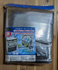 クーラーバック 20リットル アルミ 新品未使用品 小さく収納出来る折りたたみベルト付き
