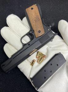 ★ NEW コルト ガバメント Colt M1911 A1 High Precision 1/2scale Mini Model ★Handmade Wooden Grip (Limited Edition BLACK)★限定品