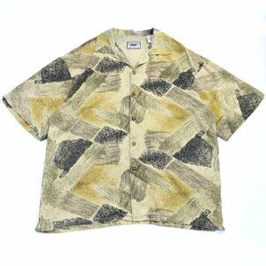 古着 オーバーサイズ 半袖シャツ アロハシャツ 柄シャツ 総柄シャツ 80's 90's シルクシャツ used ヴィンテージ vintage アメリカ古着