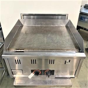 【中古】 ガスグリドル マルゼン MGG-066T 2007年製 都市ガス 幅600×奥行650×高420mm (No.8026) 業務用 厨房機器