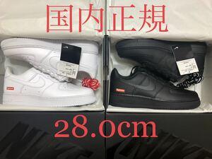 国内正規黒タグ 【新品 白 US10 28.0cm Supreme Nike Air Force 1 Low】 シュプリーム エアフォースワン af1 box logo dunk sb jordan 1 og