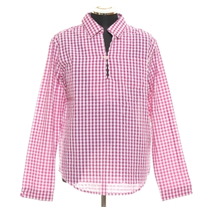◆231994 未使用品 URBAN RESEARCH ギンガムスキッパーシャツ WMH-1922035S サイズ40(L) 綿100% メンズ ピンク×ホワイト チェック