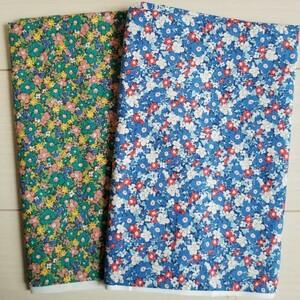 小花柄のバニラン生地2種類セット♪ハギレ カットクロス 手芸 布  綿100%  はぎれ