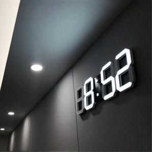 インテリア 壁掛け時計 デジタル ウォールクロック 選べる8カラー LED Digital Numbers Wall Clock