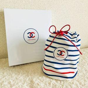 【新品】CHANEL L'AIR MARIN シャネル ポーチ 化粧ポーチ コスメポーチ ノベルティ マリン 巾着 巾着袋