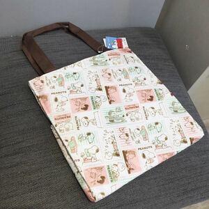 スヌーピー トートバッグ バッグ 保冷バッグ エコバッグ ホワイト ピンク SALE 大きめ