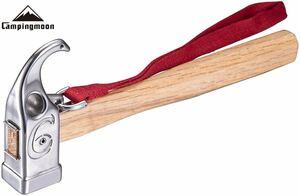 CAMPING MOON プレミアム2WAYペグハンマーPRO C6 ヘッド部 四角型 ステンレス鋼420J 抜け防止ベルト付
