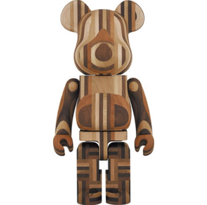 BE@RBRICK カリモク 寄木 1000%