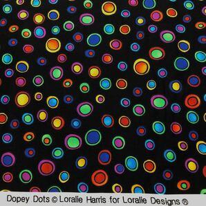 ロラライハリス Dopey Dots 黒生地