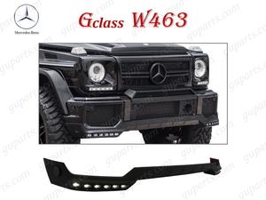 ★ ベンツ G W463 後期 AMG フロント バンパー リップ スポイラー アンダー LED ライト 付き ドレスアップ G55 G63 エアロ ボディ キット