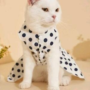 【Sサイズ】猫服 犬服 ペット服 おしゃれ 水玉ドレス オソロコーデ リンクコーデ かわいい ドット インスタ映え