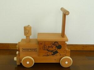 定価 15,620円 日本製 木製 乗用玩具 MOCCO(モッコ) ディズニー ミッキーマウス ウッディートレイン 森の汽車ポッポ 乗り物 DF-010