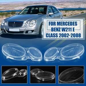 フロントヘッドライトレンズカバー カスタム 高品質 トリムメルセデスベンツEクラスW211 E240 E200 E350 E280 E300 2006-2008