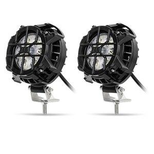 2個セット カスタム 高品質 オフロード車 ヘッドライト,ディップランプ,フォグライト,ブレーキ,オートバイ,自転車,60W,4X4