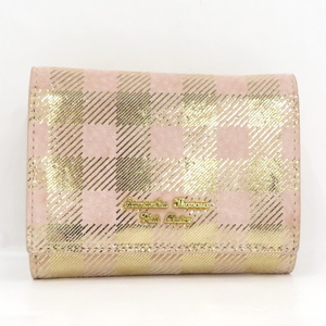 【中古】 サマンサタバサ プチチョイス 三つ折り財布 レザー ピンク