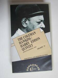 輸入VHS ビデオ  コールマン・ホーキンス/ハリー・エディソン COLEMAN HAWKINS/HARRY EDISON QUARTET LIVE IN LONDON 1964 VID JAZZ 14