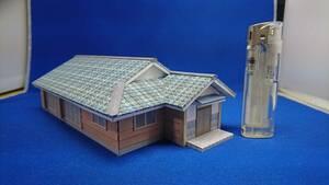 □オリジナル建築模型01□スケール1/87 HOゲージ ジオラマ 雑貨 鉄道模型 サザエさん
