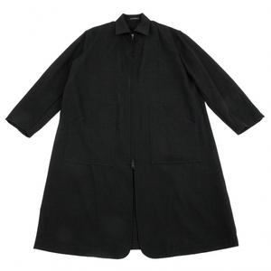 ワイズフォーメンY's for men アルパカ混オールドギャバウールジップコート 黒2 【メンズ】