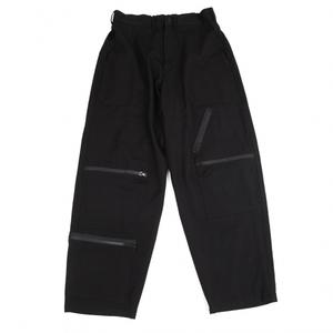 ヨウジヤマモト プールオムYohji Yamamoto POUR HOMME ウールギャバジップパッチポケットパンツ 黒2 【メンズ】