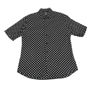 ヨウジヤマモト プールオムYohji Yamamoto POUR HOMME ドットプリント半袖シャツ 黒4 【メンズ】