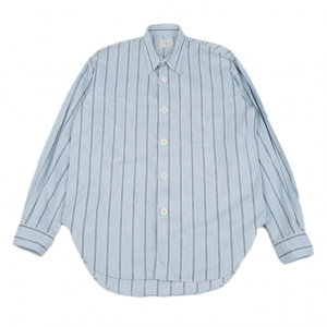 LQ/ワイズフォーメンY's for men コットンストライプシャツ 水色M 【メンズ】