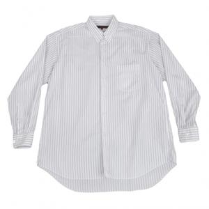 コムデギャルソン オムドゥCOMME des GARCONS HOMME DEUX ストライプタブカラーシャツ 白紺M 【メンズ】