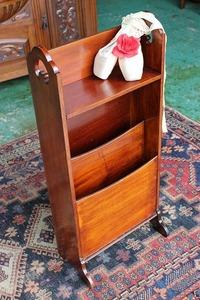 イギリスアンティーク家具 マガジンラック 飾り棚 英国製 j9