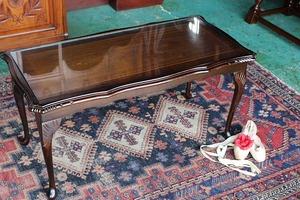 イギリスアンティーク家具 ガラストップ/コーヒーテーブル センターテーブル テーブル 英国製 j167