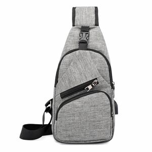新品 USB充電ポート付き ボディーバッグ 斜め掛けバッグ ショルダーバッグ ワンショルダー