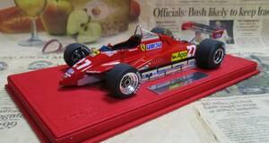★激レア絶版*世界600台*BBR*1/18*Ferrari 126 C2 #27 1982 San Marino GP*Gilles Villeneuve≠MR