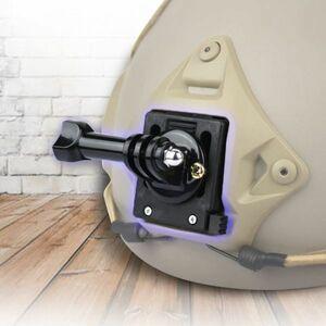 【新品】GoPro用 サバゲー NVG ヘルメット 固定 マウント ウェアラブル アクション カメラ用 ゴープロ Hero3/4/5/6/7/8/9 ナイトビジョン