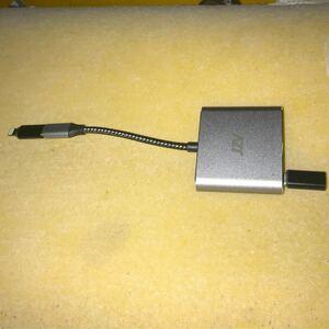USB C to HDMIアダプター JZV HDMI-4K HDMI出力 USB 3.0 USB-C充電ポート と変換プラグ2個