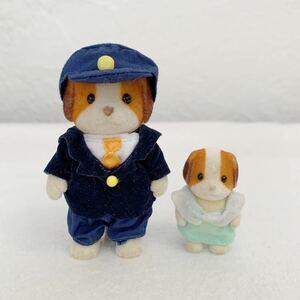 シルバニアファミリー 人形 シフォンイヌ★バスの運転手 赤ちゃん★高さ約4~8cm〈K3
