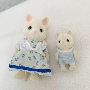 シルバニアファミリー 人形 シルクネコ★お母さん 赤ちゃん★高さ約4.5~8.5cm〈K3
