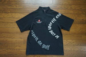 ◇ le coq sportif GOLF collection ルコック ◇ ハーフジップ 半袖シャツ ◇ size M