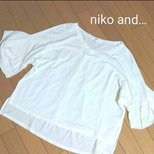 ニコアンド 5部袖カットソー