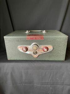 Showa Retro cashbox handbag safe YAMATO antique CASH retro safe Vintage