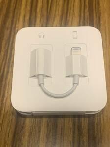 新品 未使用 iPhone 7 純正 イヤホン変換アダプタ 正規品 イヤホンジャック