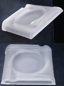 1920-30's USA アンティーク アールデコ ガラス製 灰皿/ビンテージ/モダン/デスク/ランプ/照明/バウハウス/gras/たばこ/収納/棚/ペン立て
