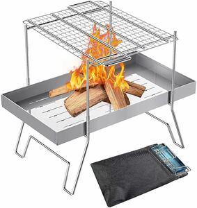 【値下げ中!組み立て簡単】焚き火台 バーベキューコンロ BBQ 焚火台 折りたたみ
